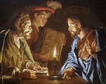 Ausschnitt aus: Matthias Stomer: »Christus und Nikodemus« (Hessisches Landesmuseum Darmstadt)